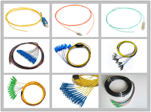 LC Mulitimode Fiber Optic Pigtail with Orange Cable / Aqua Cable