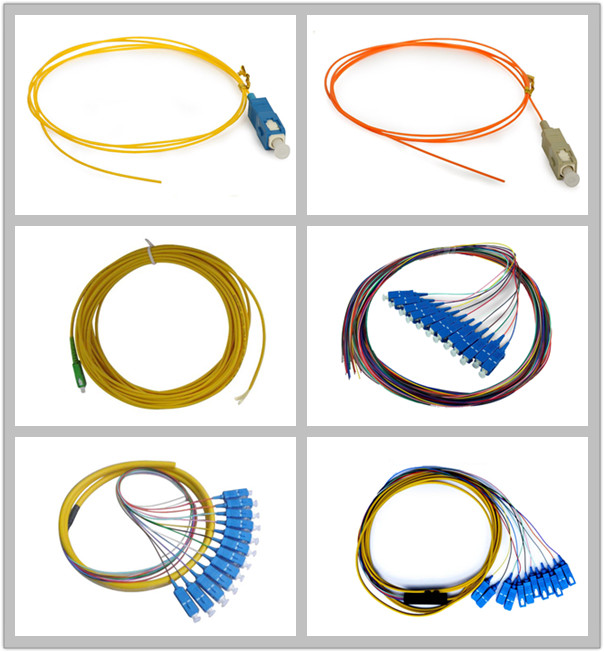 Optical access network SC APC Simplex Fiber Pigtail with SM Yellow Fiber Optic Cable