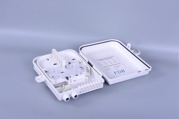 Plastic SMC Fiber Optic Distribution Box 16 Core SC Waterproof FTTH PLC Splitter
