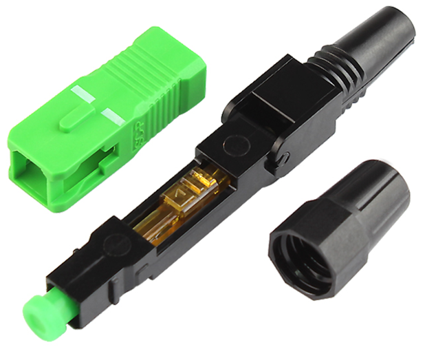 Fast Fiber Optic Connector SC APC / UPC Polish Quick Assembly 0.3db Insertion Loss