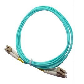 China LC / PC  Aqua  Multimode OM3 Optical Fiber  patch cord for communication supplier