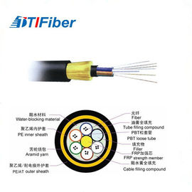 Double Sheath Aerial Optical 100m Fiber Optic Ethernet Cable ADSS 8 Core All Dielectric