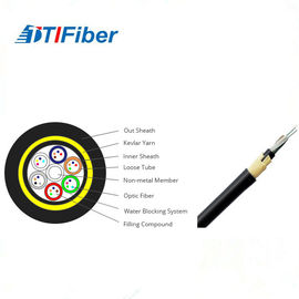 Customized Length Fiber Optic Drop Cable , Fiber Optic Armored Cable Adss 24 Core
