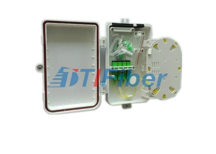 FTTH Solution 4 Port Mini Fiber Optic Termination Box With SC APC Adapters