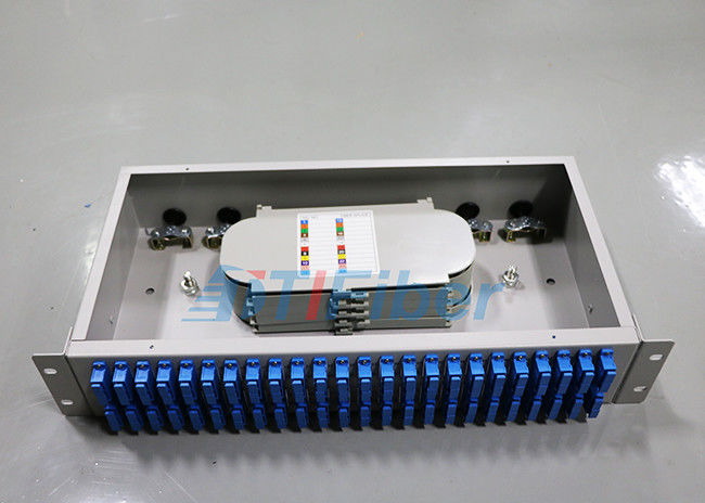 Compact 48 port SC cable optical distribution box 2U Rack Mounted Structure