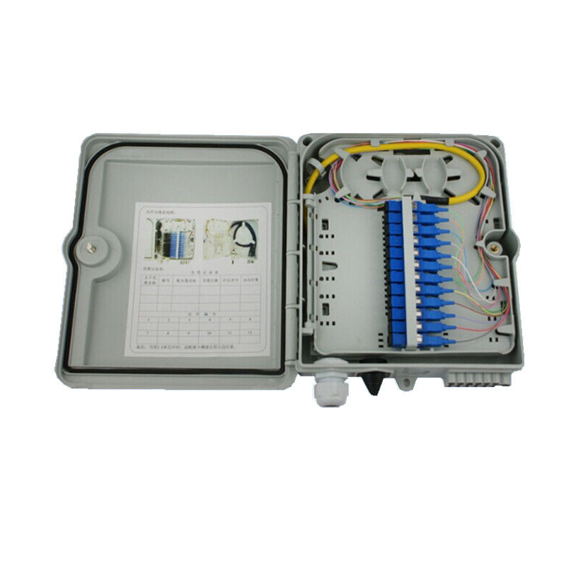 White FDB outdoor Fiber Optic Distribution Box CE FTTH network optical distribution box