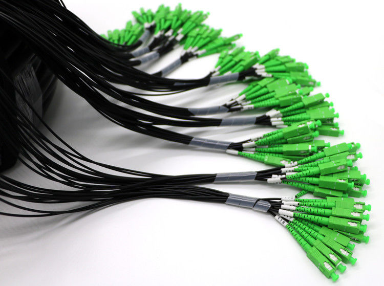 Waterproof Outdoor Fiber Optic Pigtail Multi Core Single Mode SC Low Insertion Loss