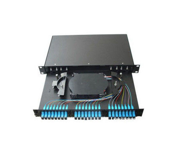 24 Port ODF Fiber Optic Patch Panel 19 Inch Fiber Optic Distribution Frame