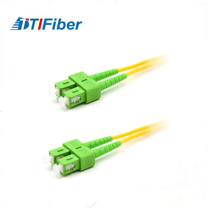 SC Duplex Fiber Optic Patch Cord PVC LSZH OFNR OFNP Type High Return Loss
