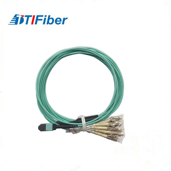 Multimode Fiber Optic Patch Cord 4G/5G MPO - LC OM3 Upc/Apc Ferrule End - Face