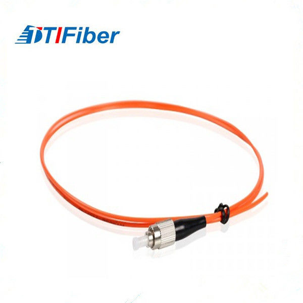 Orange Color Jacketed Single Mode Pigtail 0.9mm OFNP PVC LSZH OFNR OFNP Cable Type