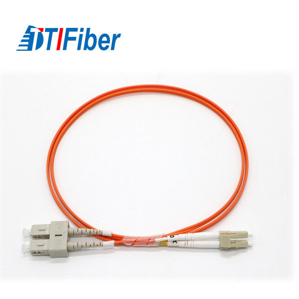SC To LC Fiber Optic Cable Patch Cord MM 62.5 OM1 Various Fiber Types PVC LSZH