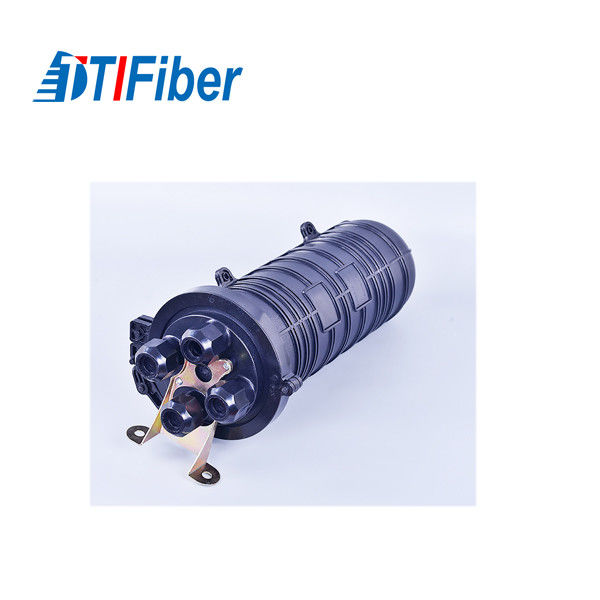 48 96 144 Core Fiber Optic Splice Closure Vertical Dome Type Heat Shrinkable Structure