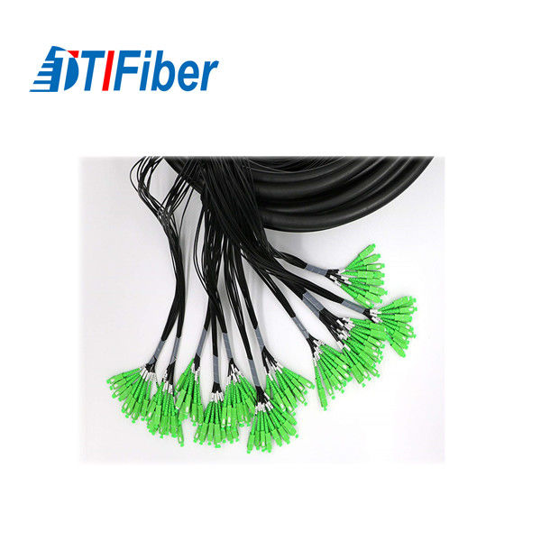 LC APC Connector Single Mode Fiber Pigtails Multi - Core For Communication Network