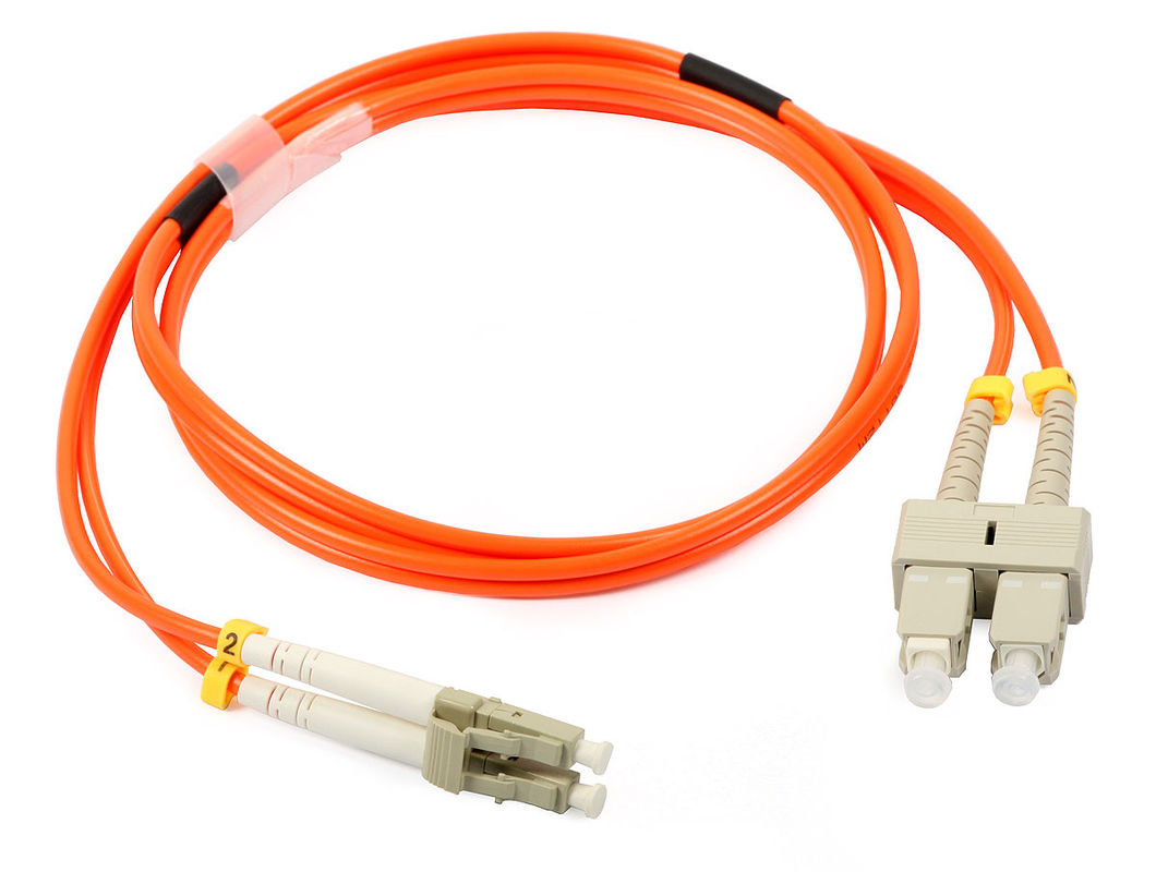 LC Duplex Multimode Fiber Optic Patch Cord with 3.0 fiber optic cable