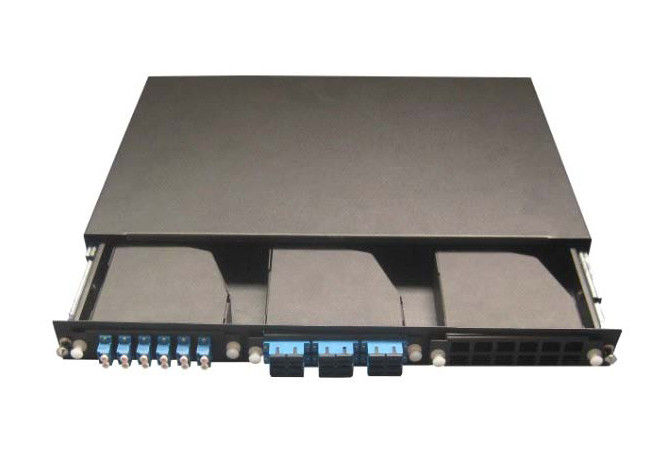 19inch Rack Mounted MPO Patch Panel , 3pcs MPO Casstte Module