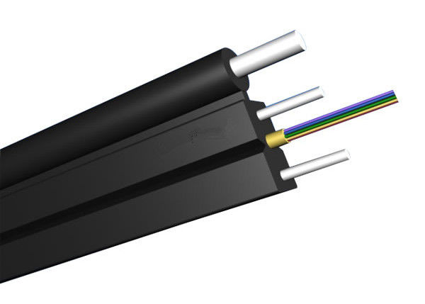 LSZH Jacket FTTH Solutions with Self - support FTTH Drop Fiber Optic Cable