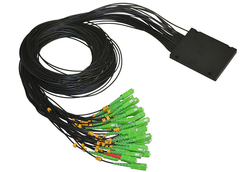 1×32 PLC Singlemode optical fiber splitter with SC / APC Fiber Connectors