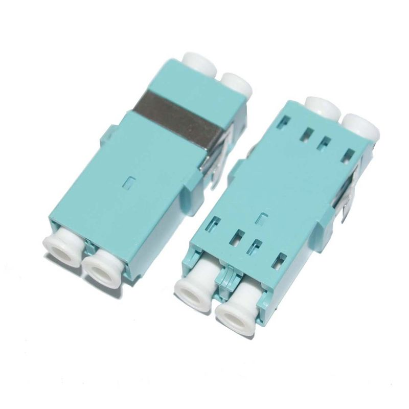 Aqua Housing Simplex OM3 SC Fiber Optic Adapter for Multimode Fiber