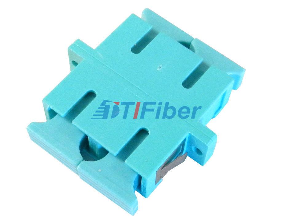 Aqua OM3 Simplex / Duplex Fiber Optic Adapter for Telecomunication Network