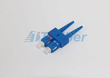 China SC / PC Fiber Optic Connectors For Fiber  Patchcords , Multimode Fiber Connectors factory