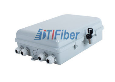 16 Port Optical Splitter Outdoor Distribution Box Wall And Pole Mounted Use