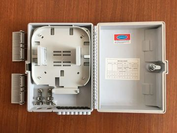 FTTH wall mounted Fiber Optic Distribution Box with 1x8  lgx splitter , ISO Approval