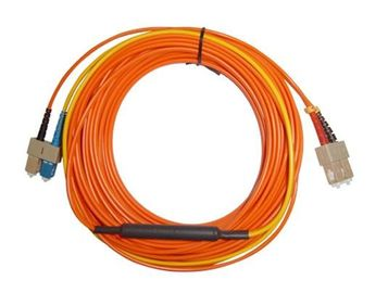 SC APC - SC APC Optical Fiber Network Patch Cord , Orange White Black