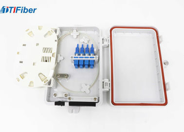 FTTH Optical Fiber Distribution Box Wall Mounted 4 Port SC Connectors Light Weight