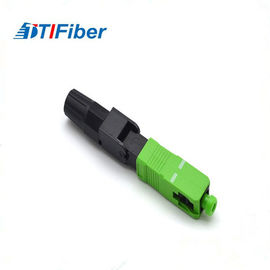 China UPC FTTH SC Single Mode Fiber Optic Connector 0.3db Insertion Loss 50N Tensile Strength factory