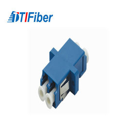 China Plastic Fiber Optic Adapter Singlemode LC/UPC To LC/UPC Duplex Low Insertion Loss factory