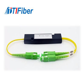 China ABS Type PLC Fiber Optic Splitter Singlemode 1X2 FTTX System Application factory