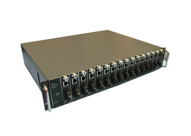 16slots 2 U Rack Mount Fiber Optic Media Converter with automatic switch