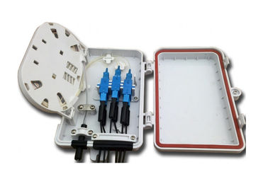 China Wall - mounted 4port FTTH customer terminal box with SC Adapters factory