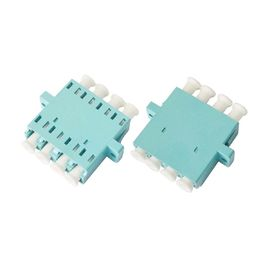 LC OM3 Quad optical fiber adapter for Optic LAN , Blue / Beige / Aqua