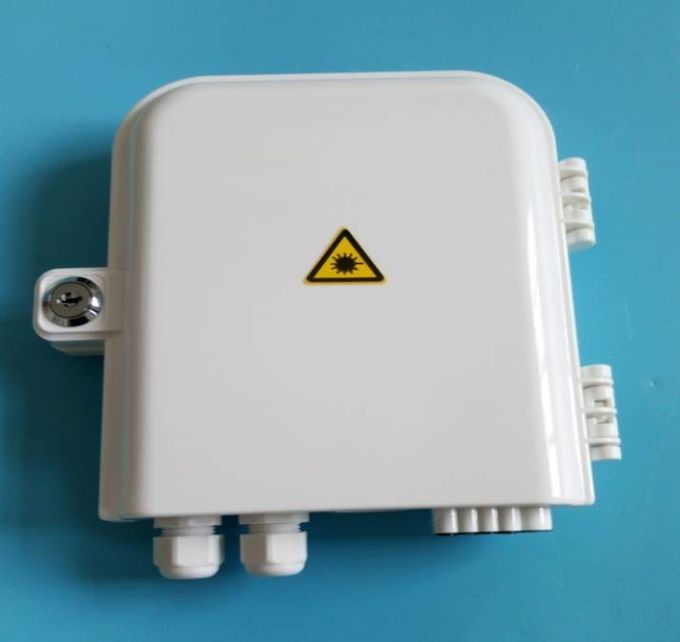 SC Connector Fiber Optic Distribution Box PC ABS 8 Cable Ports For FTTH Access Network